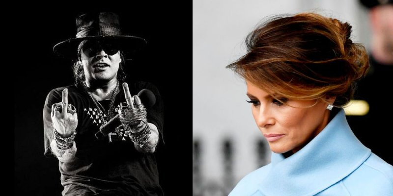 """Axl Rose Calls Melania Trump An """"Alleged Former Hooker"""" And says She Should Be Deported!"""