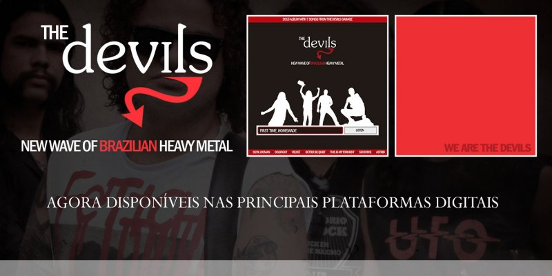 """The Devils: """"First Time, Homemade"""" and """"We Are The Devils"""" can now be found on the top digital platforms!"""