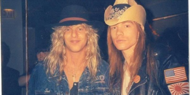 """Steven Adler """"Axl is really talented and very smart, and I love him. I wish I could give him a hug and a kiss, but I can't see him.'"""