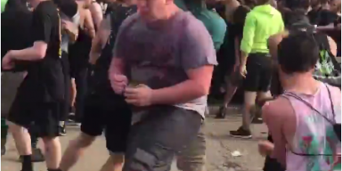 Watch This Dude Eat A Can Of Beans In A Moshpit!