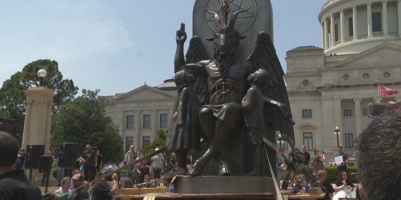 Satanic Temple's Baphomet Raises Hell Over Religious Freedom In Arkansas!