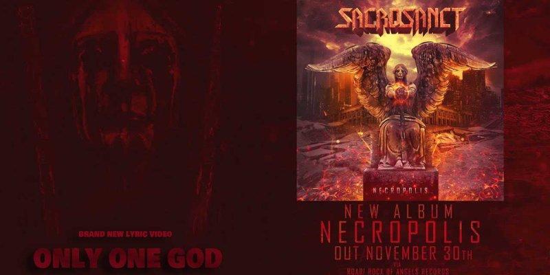 SACROSANCT Feat. Ex PESTILENCE Gitarrist Randy Meinhard Release 'Only One God' Lyric Video