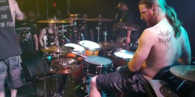 VISCERAL DISGORGE post drum video from ongoing tour