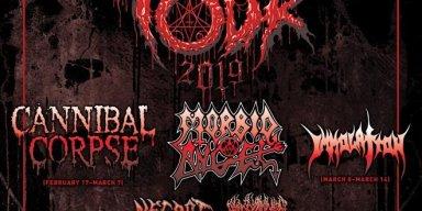 Decibel Magazine 2019 Tour Lineup Featuring Cannibal Corpse & Morbid Angel + Dates Announced