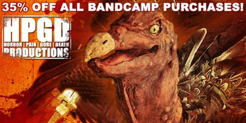 Horror Pain Gore Death offers 35% OFF BANDCAMP ORDERS via Thankskilling Sale