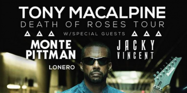 MONTE PITTMAN Announces North American Tour With Tony Macalpine And Lonero