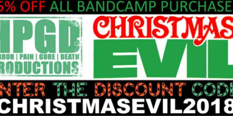 Horror Pain Gore Death launches 35% Off Sale: CHRISTMAS EVIL