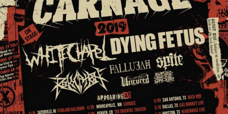 WHITECHAPEL To Co-Headline Chaos & Carnage US Tour With Dying Fetus
