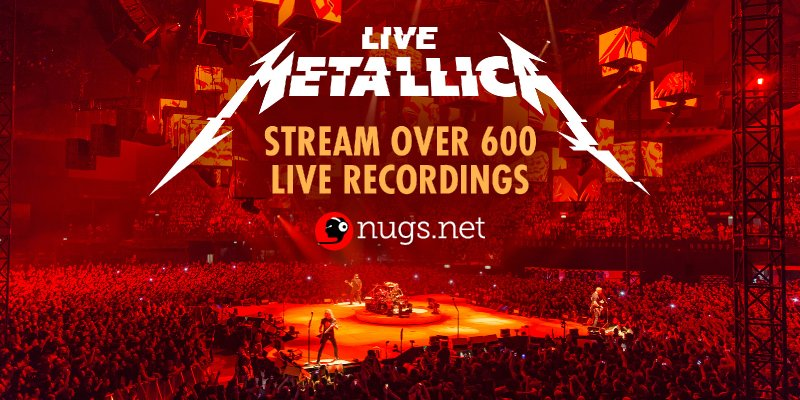 Big News! Listen Free to 600 Metallica Concerts!