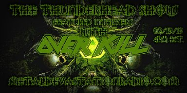 Overkill Featured Interview with Jason Bittner On The Thunderhead Show