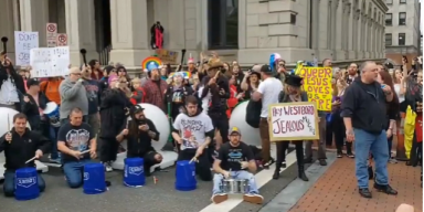 Watch LAMB OF GOD Frontman's 'Counter-Party' Against WESTBORO BAPTIST CHURCH