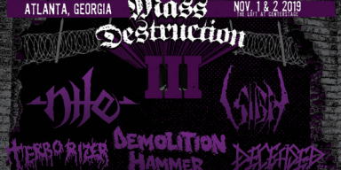 MASS DESTRUCTION METAL FEST III To Take Place In Atlanta, Georgia This November; Final Lineup Includes Performances From Nile, Sigh, Demolition Hammer, Terrorizer, Deceased, And More + Trailer Posted