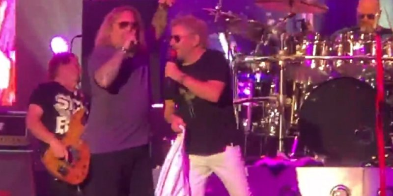 VINCE NEIL Joins SAMMY HAGAR For Cover Of 'Rock Candy'