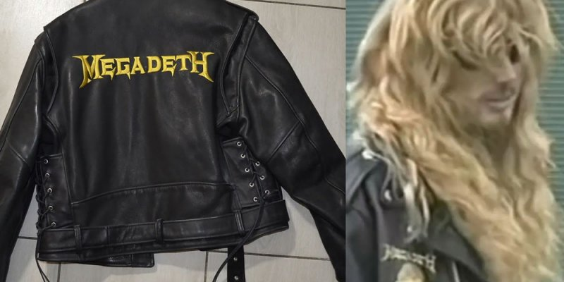 Buy Dave Mustaine's 1990 Custom Megadeth Leather Jacket for Only $4,814.26
