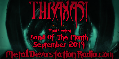Thraxas! is Band Of The Month for September 2019 on MDR!