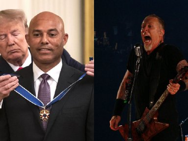 """TRUMP Walks Out To METALLICA's 'Enter Sandman"""" At MARIANO RIVERA's 'Medal Of Freedom' Ceremony"""