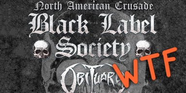 Black Label Society - Obituary tour announced, then canceled