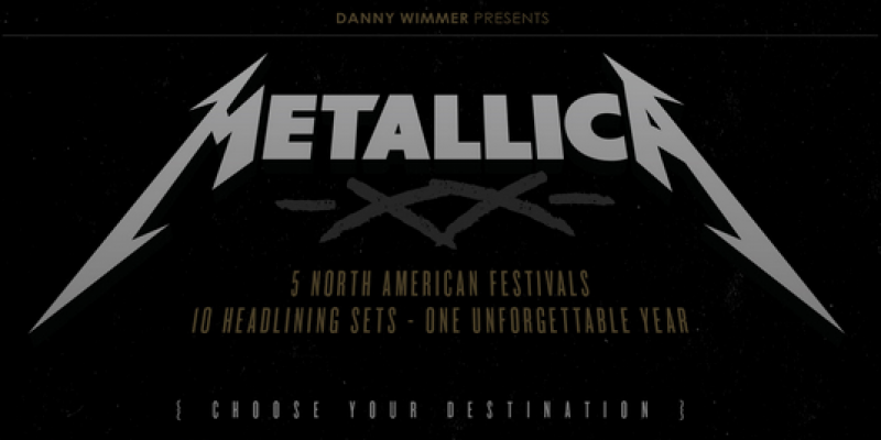 Metallica To Play 10 Shows at 5 U.S. Festivals In 2020