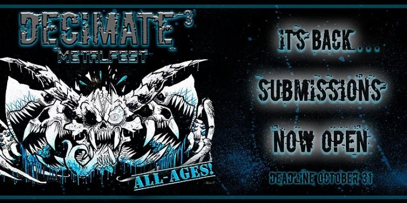 Band Submissions Deadline Oct 31st For DECIMATE METALFEST 2020