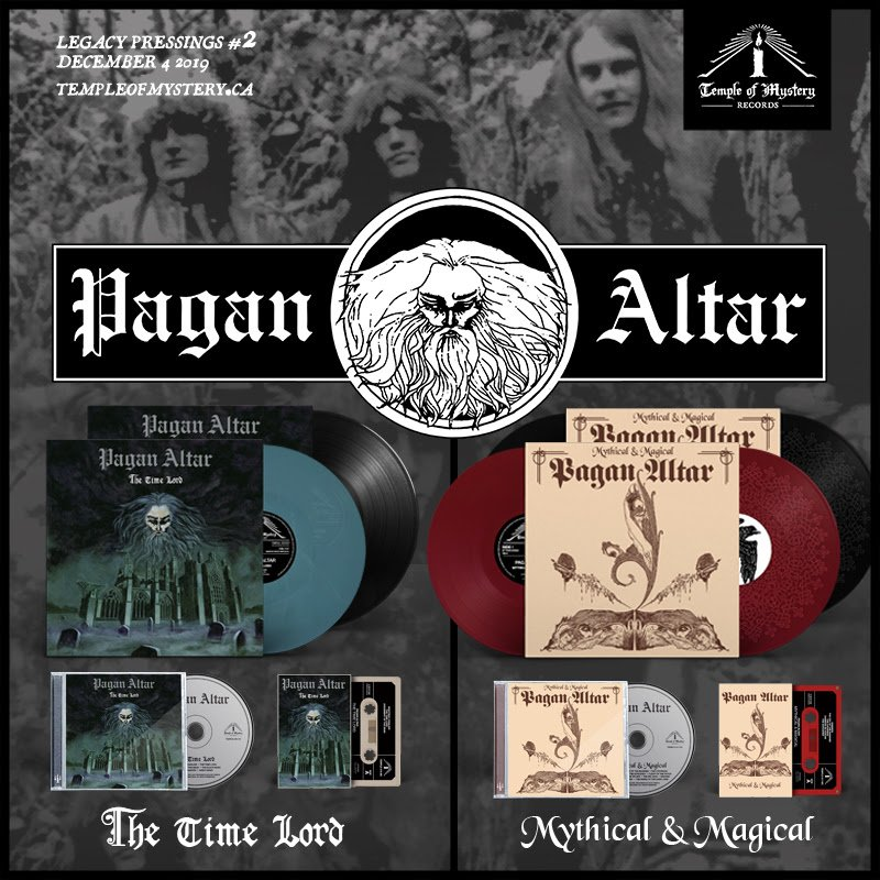 """PAGAN ALTAR's """"Mythical & Magical"""" and """"Time Lord"""" reissued today by TEMPLE OF MYSTERY"""