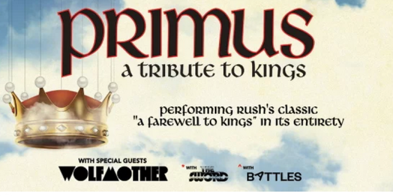 PRIMUS TO PAY TRIBUTE TO RUSH
