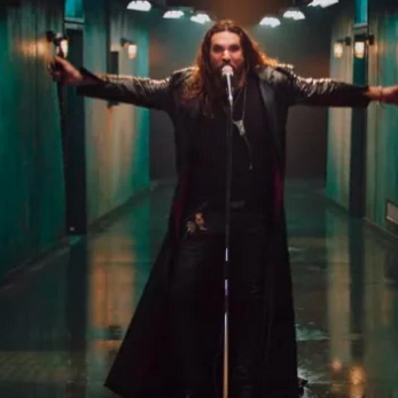 JASON MOMOA As OZZY OSBOURNE In 'Scary Little Green Men' Video