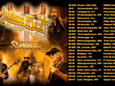 JUDAS PRIEST ANNOUNCES '50 HEAVY METAL YEARS' TOUR 2020