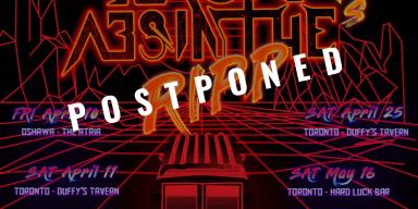 BLACK ABSINTHE Postpones Ontario Tour Dates