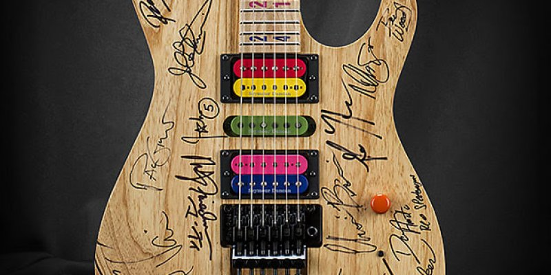 You Can Own Kiesel JB24 Jason Becker Tribute – Jason's Personal Guitar Signed by Multiple Guitarists