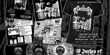 "MORTICIAN: Pre-order for 10"" vinyl & T-Shirt available now!"