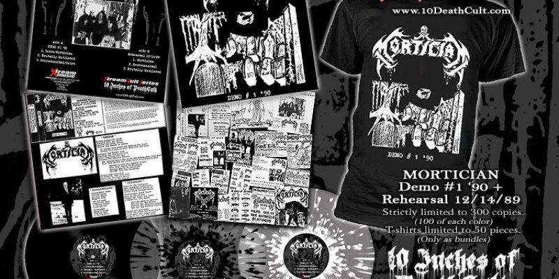 """MORTICIAN: Pre-order for 10"""" vinyl & T-Shirt available now!"""
