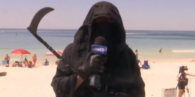 Grim Reaper Protests Florida Beach Reopening