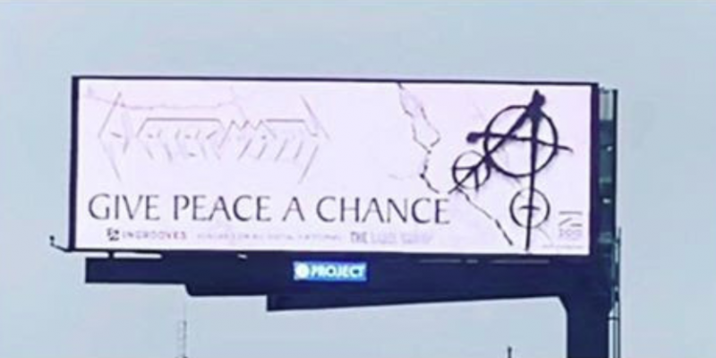 """AFTERMATH Uses Digital Billboards Urging People to """"Give Peace a Chance"""""""