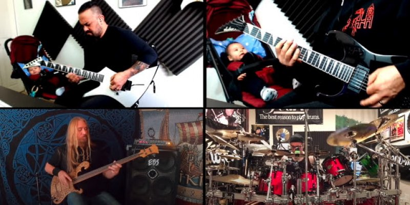 TESTAMENT And OVERKILL Members Feat. On DEATH's 'Overactive Imagination' Quarantine Jam Video!