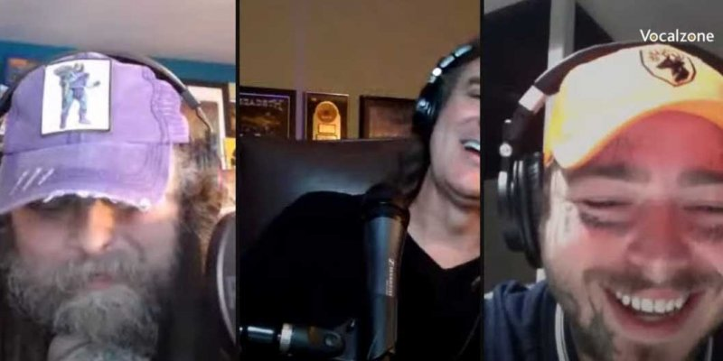 """POST MALONE DROPS BY DAVID ELLEFSON MORE NIGHTS WITH DE/TH LIVESTREAM TO CHAT """"OVER NOW"""" AND METAL."""
