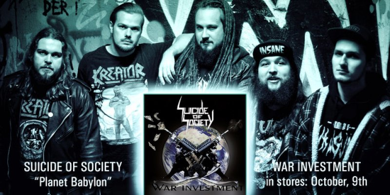 """SUICIDE OF SOCIETY release lyric video for """"Planet Babylon"""""""