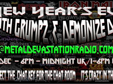 NEW YEARZ EVE - ARE YOU READY TO RAWWKKKKKK!!!!!6pm  UK / 1pm EST