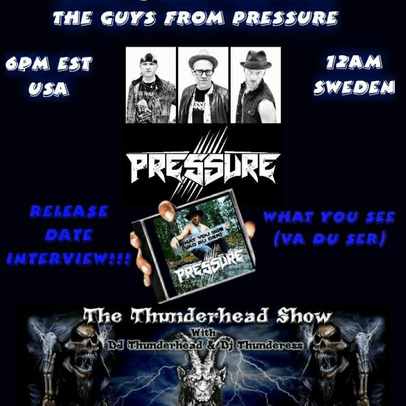 Exclusive interview with band members of band Pressure On The thunderhead show